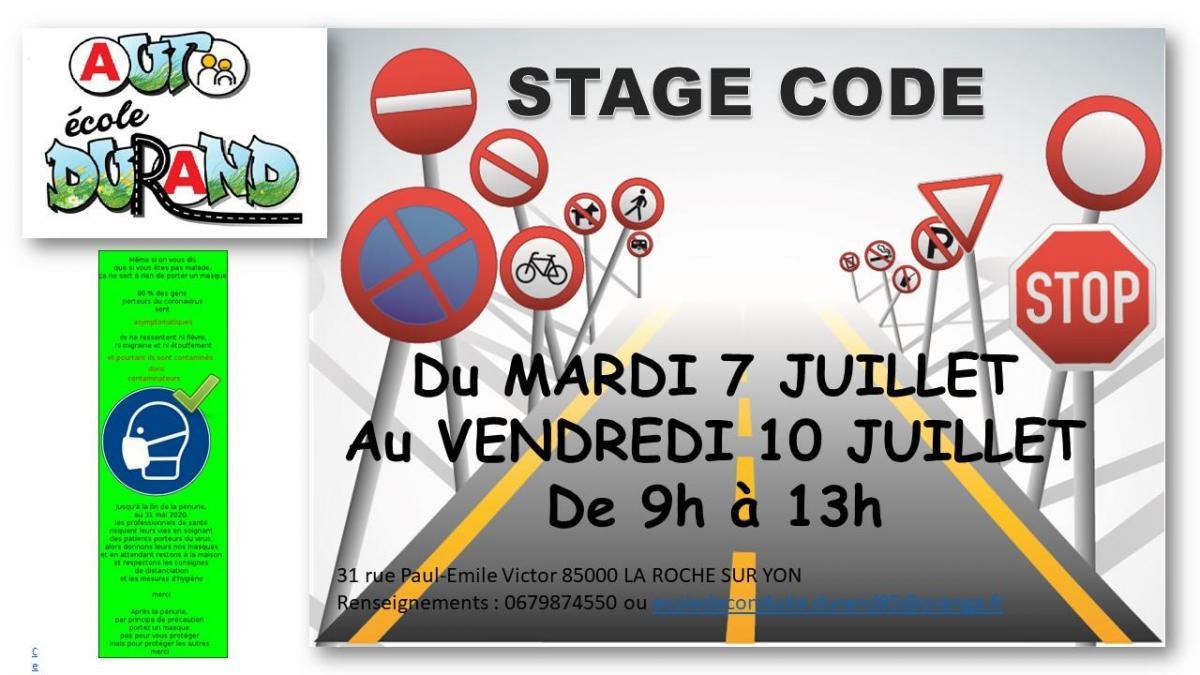 Stage code juillet 2020
